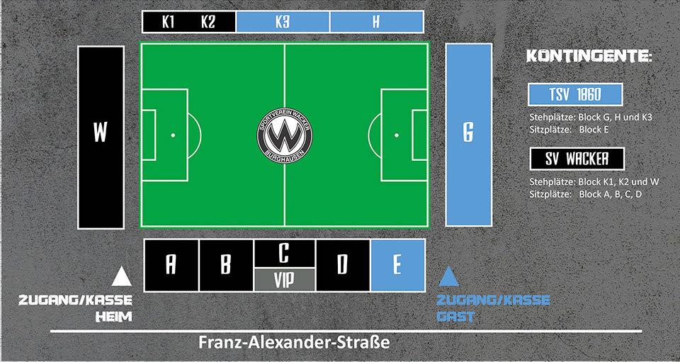 Lageplan Stadion Burghausen